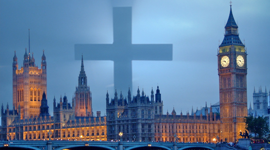 Houses of Parliament and Cross