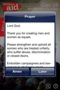Christian Aid Count Your Blessing app 3_sending_a_prayer