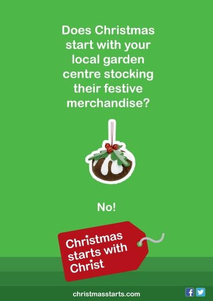christmas starts garden centre