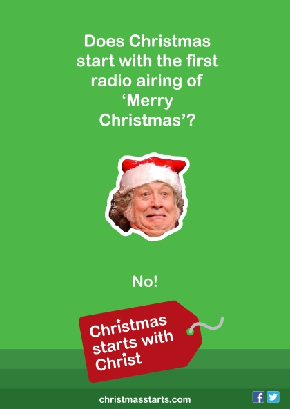christmas starts Merry Christmas