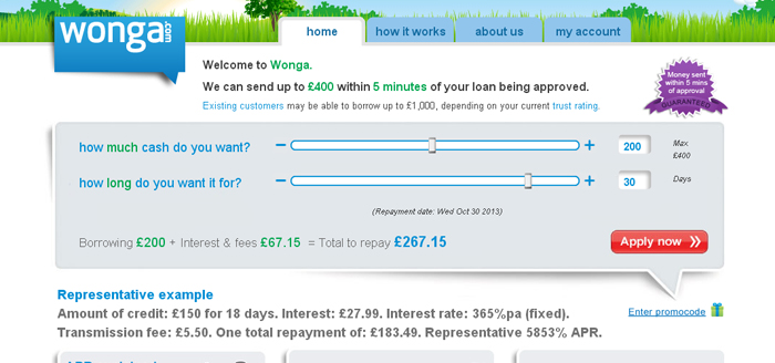 Wonga comparison