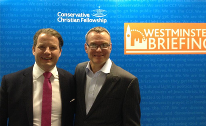 Colin Bloom, Executive Director of the Conservative Christian Fellowship and John Kirkby, founder of Christians Against Poverty