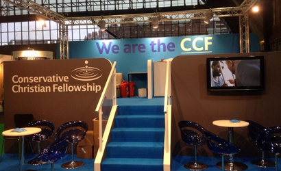 Conservative Christian Fellowship conference stand