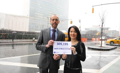 Open Doors presenting petition to UN in New York