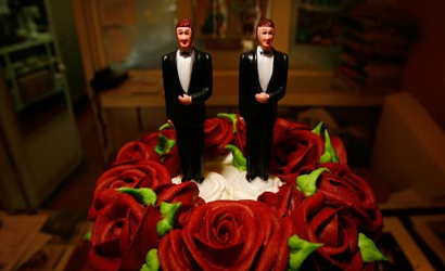 Same sex marriage wedding cake