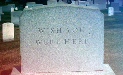 Wish you were here grave