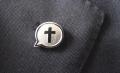 Cross Lapel Badge