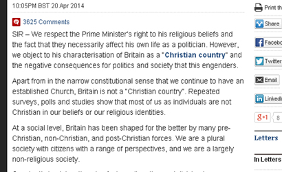 Humanist Cameron Letter