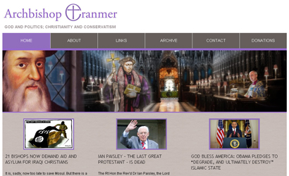 Archbishop Cranmer website